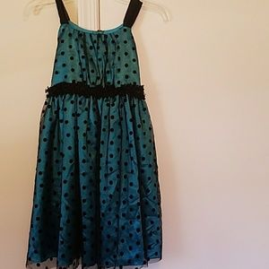 Girls polka dot dressy dress size 10