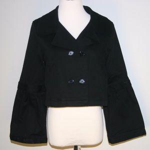 Ravel Crop Jacket Detachable Sleeves Medium NWOT
