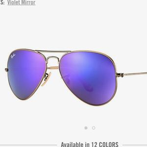 "Rayban Aviator flash lenses- ""Violet Mirror"" color"