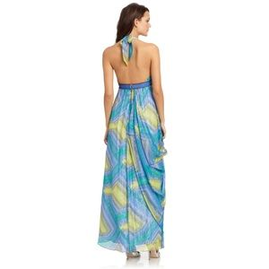 BCBG Colorful Halter Dress XS
