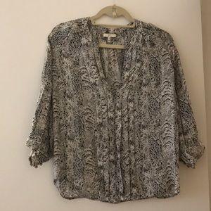 Joie patterned silk shirt