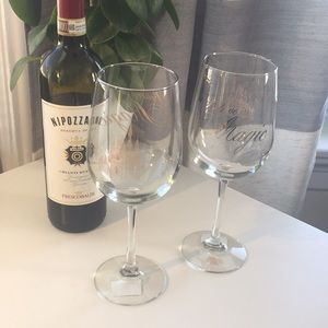 NWT Disney Wine Glasses