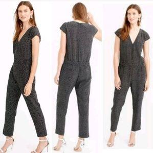 J. Crew 100% Silk Jumpsuit/Romper Polka Dot Size 8