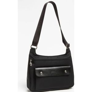 Longchamp Crossbody Bag Nylon & Leather Purse