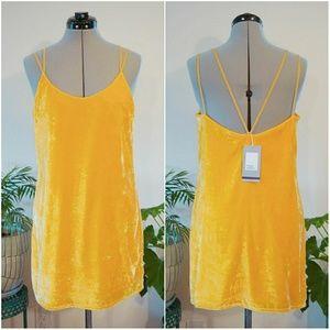 🛍NWT Zara Velvet Slip Dress