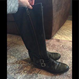 "Steve Madden ""Saviorr"" Black Leather riding boots"