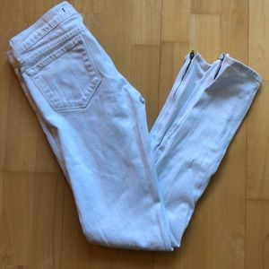 J Brand Pencil Leg White Skinny Jeans