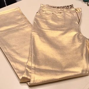 Gold Holiday Jeans