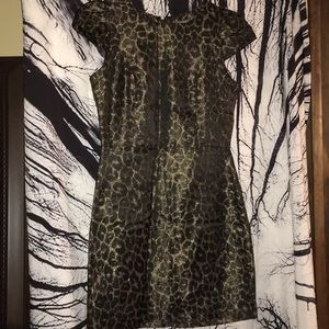 Tinley Road cheetah print shiny dress sz S