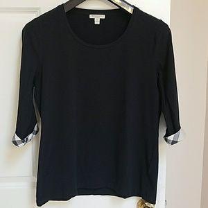Burberry Brit scoop neck 3/4 sleeve knit shirt