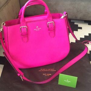 Hot pink Kate spade hand bag