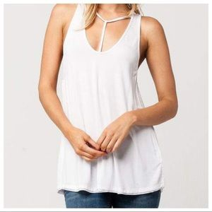 Free People White Tank Top Small NWT