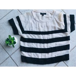 Jessica Simpson beaded striped crop top
