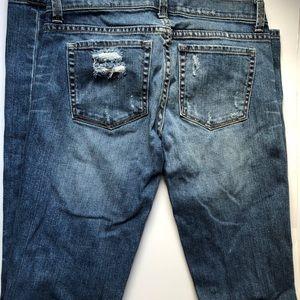 Distressed Victoria Secret low rise jeans