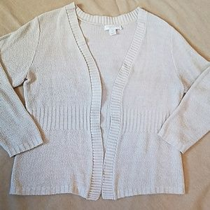 Christopher & Banks petite open front cardigan