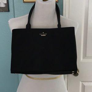 Kate Spade black canvas bag