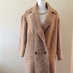 Zara Textured Knit Coat