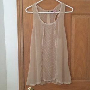 Nude tank top blouse