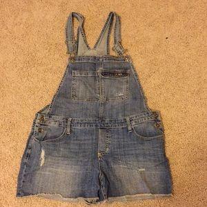 Mossimo Denim Overall Shorts