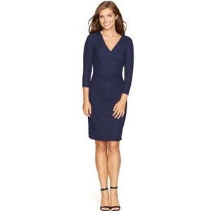 NWT American Living Textured Navy  Wrap Dress