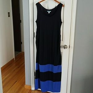 Maternity dress navy and blue