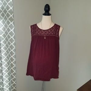 Liz Lange Maternity tank with lace detailing