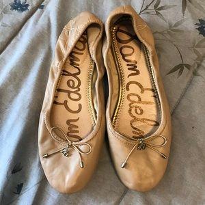 Sam Edelman Nude/Tan Felicia Ballet Flats