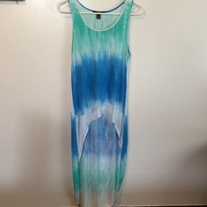 High-low Tie Dye extra long top Forever 21