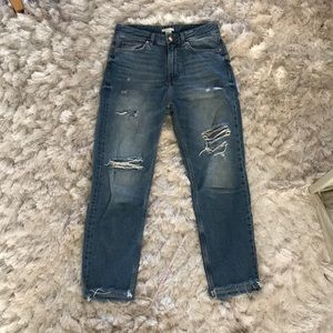 Cropped High Rise Jean
