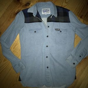 Madewell Penfield Denim and Flannel Shirt