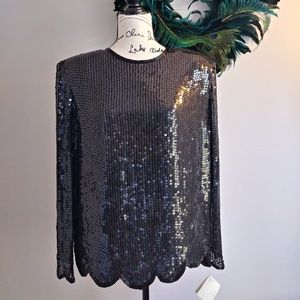 Lord and taylor black sequin dress