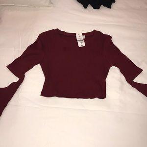 BRAND NEW Long Sleeve Crop Top! So Cute!