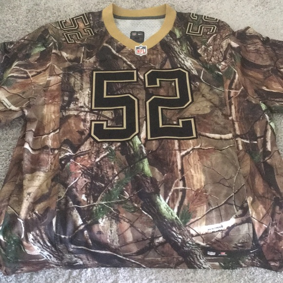 100% authentic a401c 9860a Camo Nike NFL jersey Patrick Willis Size 52 NWT NWT