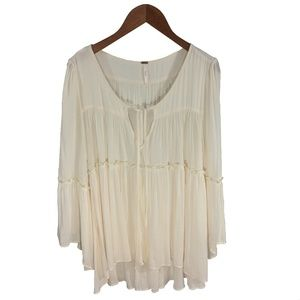 FREE PEOPLE BLOUSE, IVORY_#131-38
