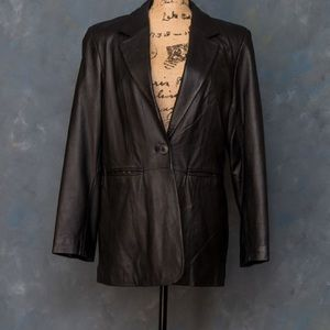 Leather blazer jacket. Excellent condition