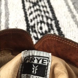 Frye wedge riding boots