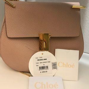 Chloe Small Drew Leather Shoulder Bag