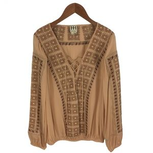 HAUTE HIPPIE EMBROIDERED BLOUSE_#131-42