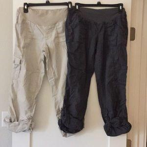 Maternity Cargo Pant/Capri Bundle!!