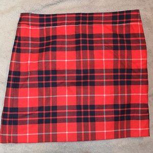 New J-Crew Plaid Skirt