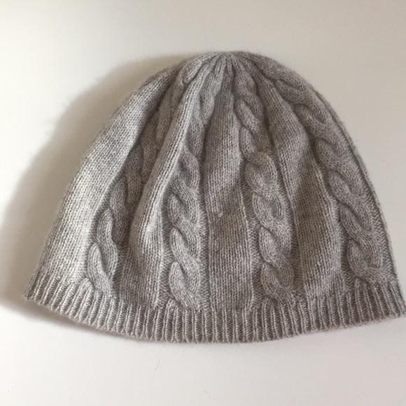 c1e4b6ac4c7a3 100% Cashmere Cable knit hat