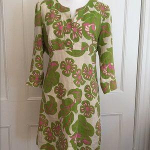 Biden women's linen 3/4 sleeve tunic dress. Size M