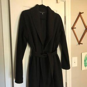 Banana Republic Black 100% Wool Coat