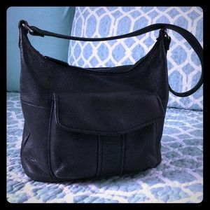 Black Leather Fossil Bag