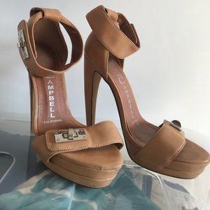 Jeffrey Campbell beige heels