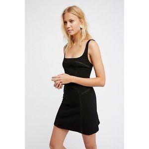 Free People Fit and Flare black mini dress