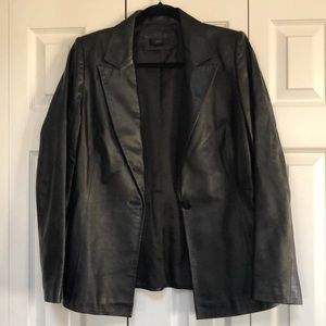 Frenchi Leather Blazer in Large.