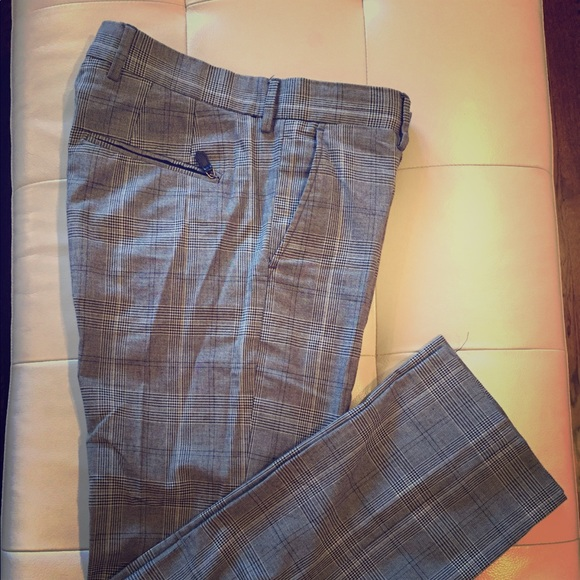Zara Pants Mens Dress Patterned Poshmark Interesting Men's Patterned Dress Pants