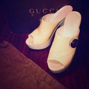 Beautiful patent leather Gucci mules!