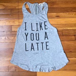 Tops - 'I like you a latte' tank